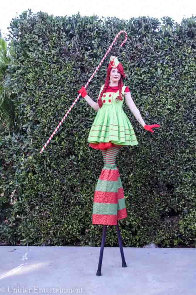 Christmas Elf Stilt Walker
