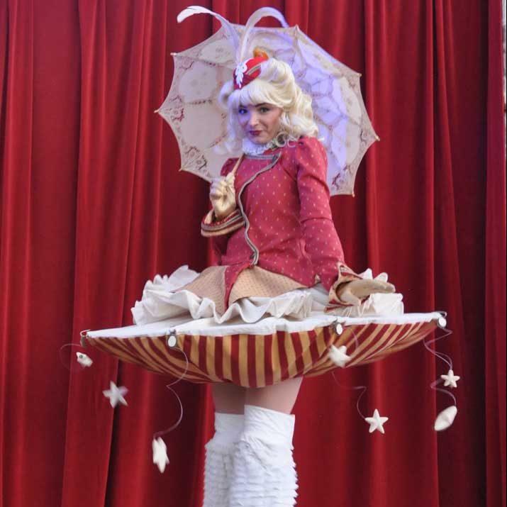 Cute Stilt Walker Circus