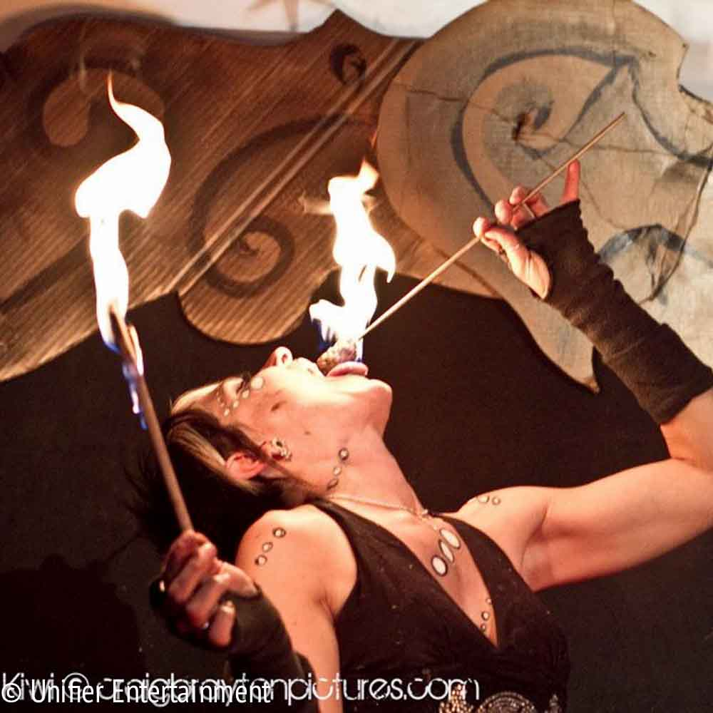 Fire Eating Circus Performer
