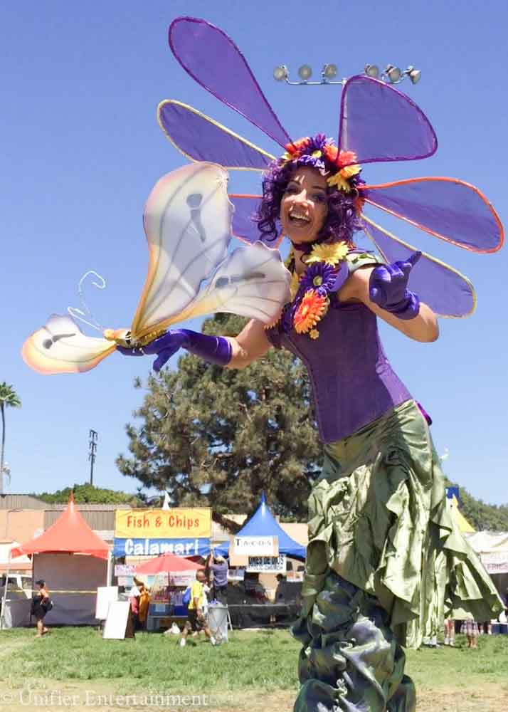 Flower Lady Stilt Costume