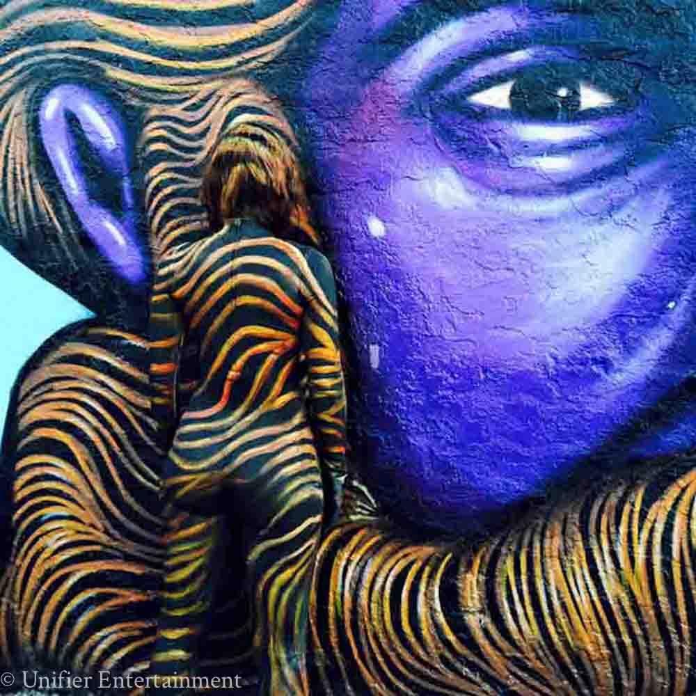 Graffiti Girl Face