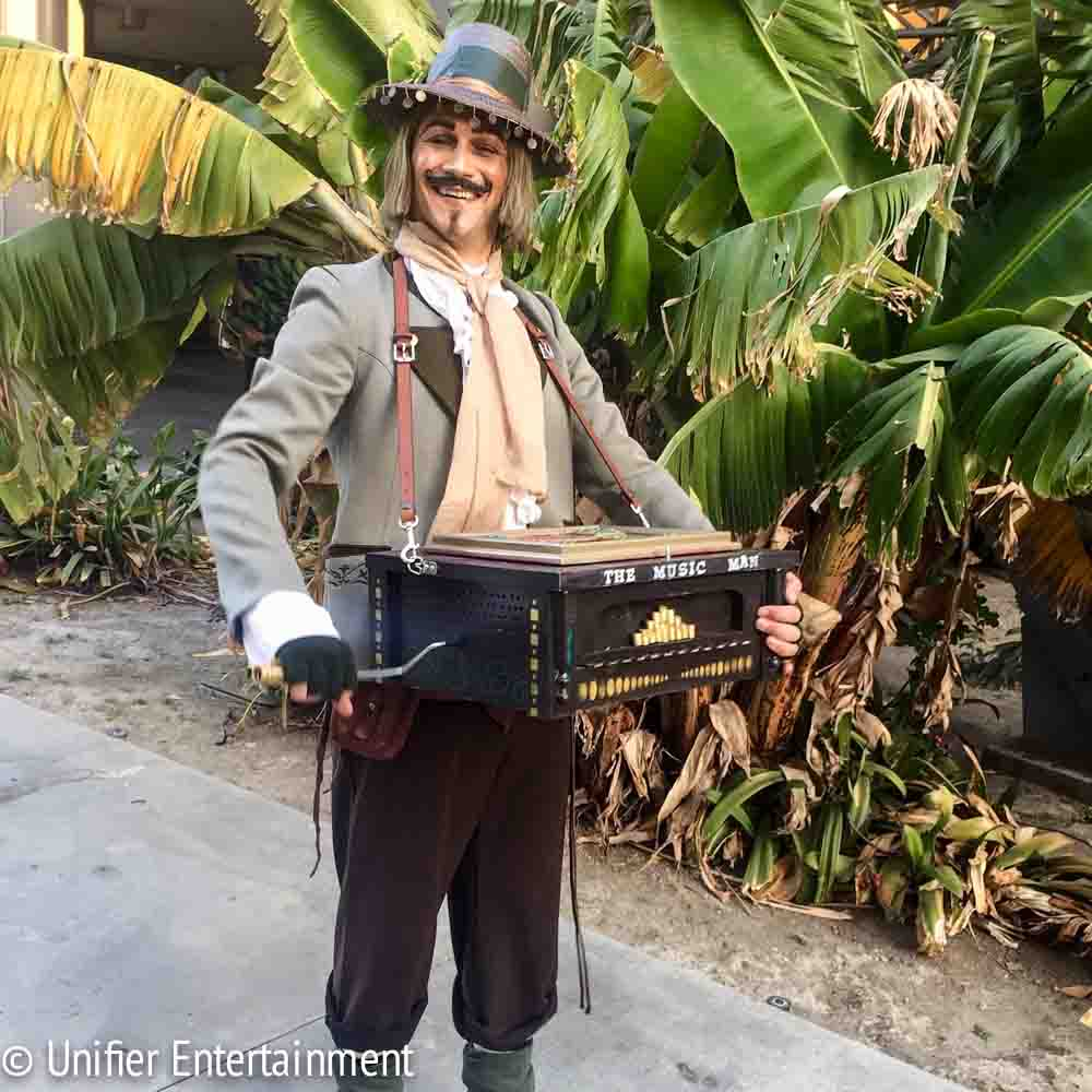 Music Man with Organ Grinder