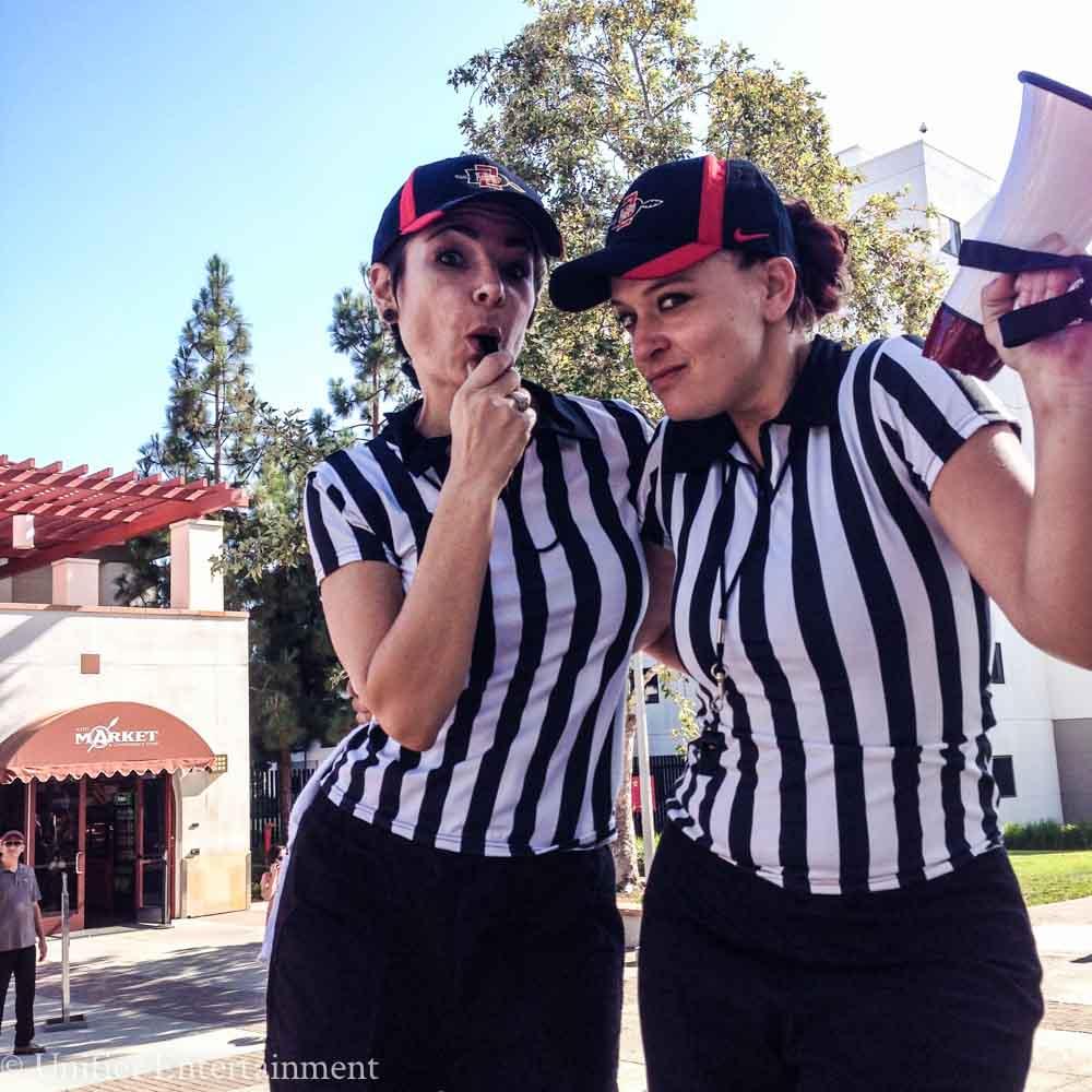 Referee Stilt Walkers