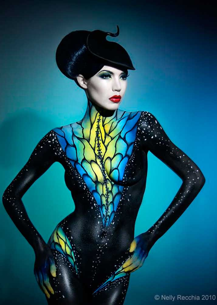 Stunning-Abstract-Body-Painting-Model