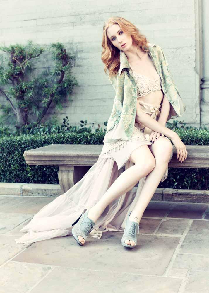 Stunning Outdoor Fashion Model