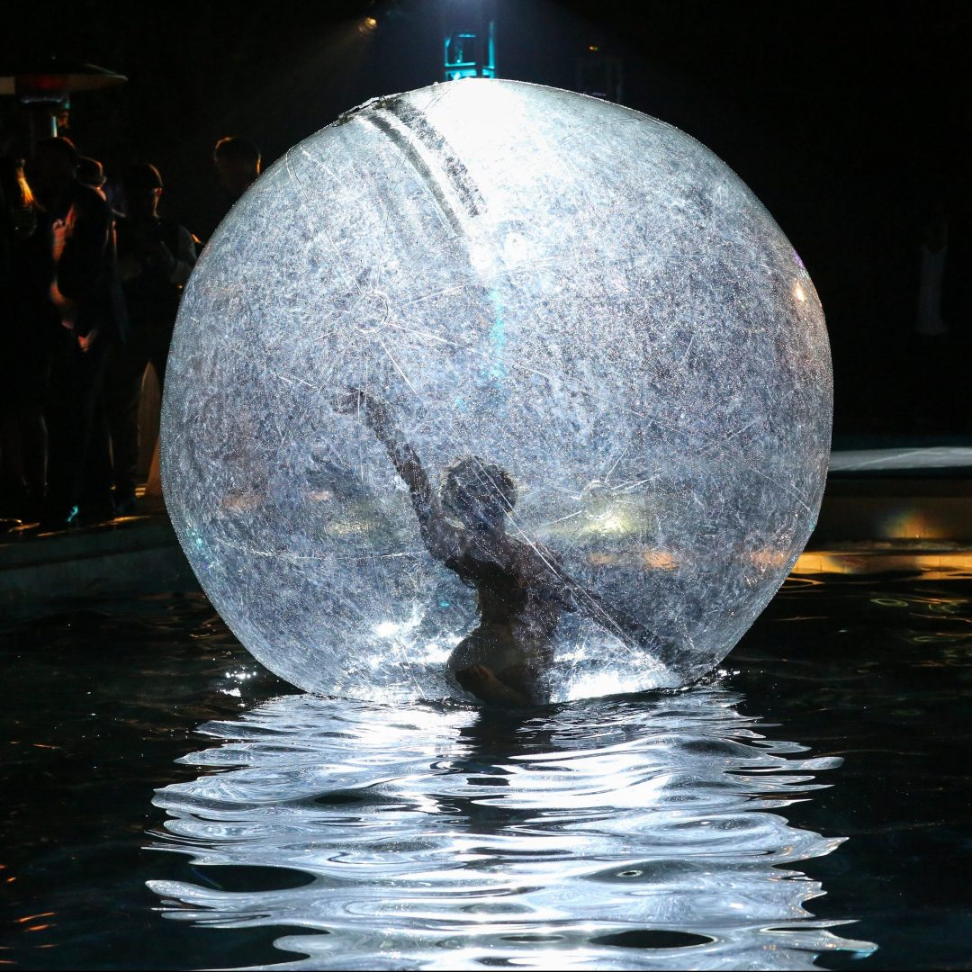 Pool Bubble Ball in moonlight