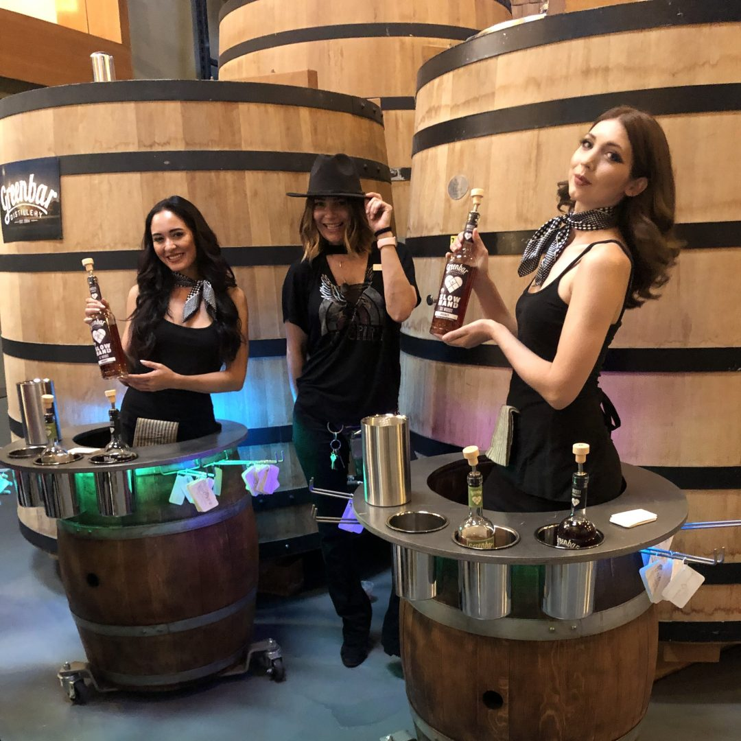 Wine barrel ladies