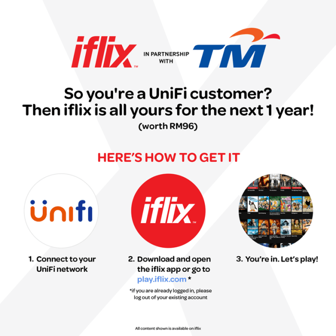 Free iFlix subscription for UniFi customer, Streamyx free iflix, Streamyx iflix