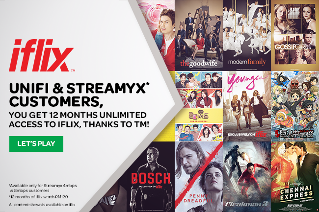 Unlimited iflix forUniFiStreamyx customers year 2017