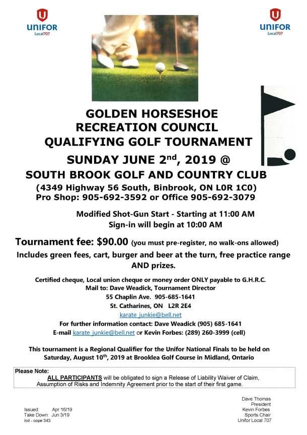 GHRC Golf Sunday June 2 2019