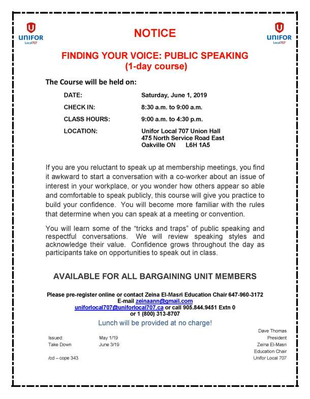 Finding Your Voice Public Speaking - 1 Day Course Saturday June 1 2019