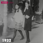 紀錄片拍攝二次大戰前的日本街頭,原來以前日本制服就這麼漂亮