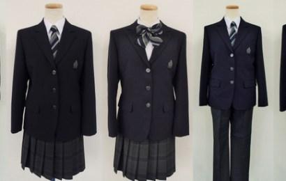 日本千葉縣柏の葉中学校開放制服自由混搭,男生制服可配蝴蝶結,女生制服可打領帶