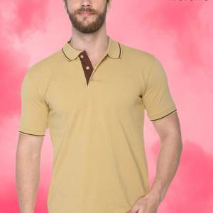 Beige-Brown-Pure-Cotton-Corporate-Event-Polo-T-Shirt-1662_BGBR