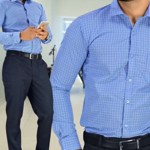 Blue-Chex-Formal-Uniform-Shirts-Trousers-Set-for-Corporate-Office-SB-113154.-1