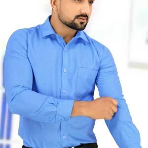 Blue-Color-Mens-Uniform-Shirt-For-Hospital-Staff-T-445452-N