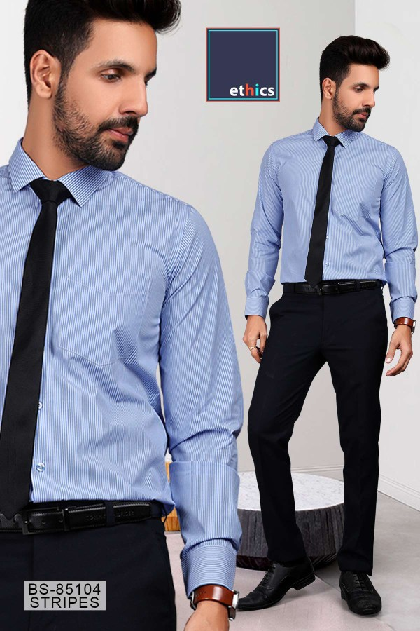 Blue-Stripes-Uniform-Shirts-Trousers-Set-Formal-Workwear-for-Corporate-Office-BS-85104