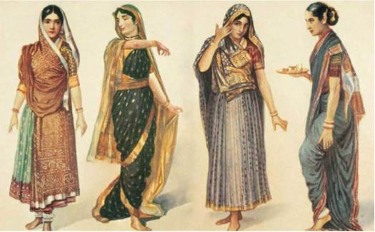 Different-Style-of-Draping-Indian-Saree