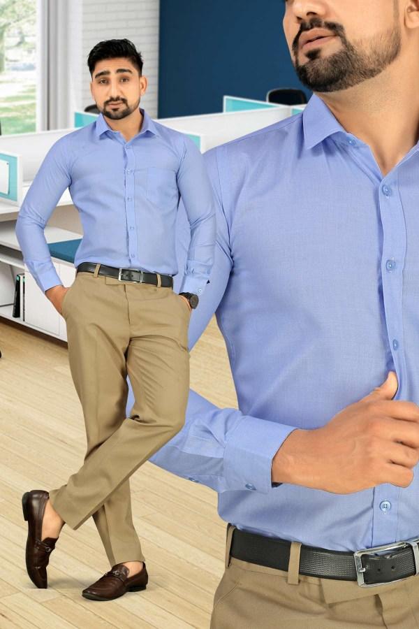 Light-Blue-Plain-Uniform-Shirts-Trousers-Set-for-Office-Staff-T-445468-2