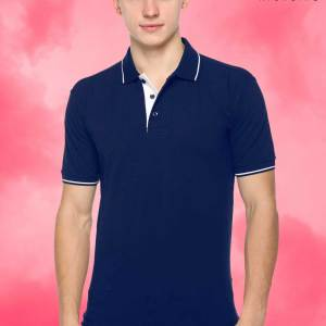 Navy-Blue-White-Pure-Cotton-Corporate-Event-Polo-T-Shirt-1667_NBUWH