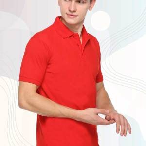 Red-Cotton-Polo-T-Shirt-For-Students-1613_RED