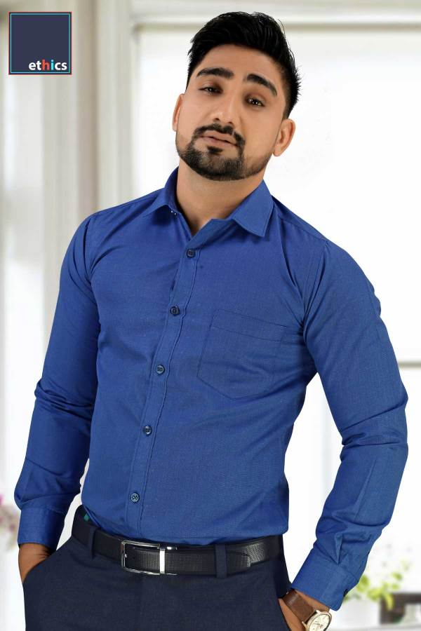Solid-Blue-Mens-Formal-Uniform-Shirt-for-Corporate-Uniforms-BF-81303-N