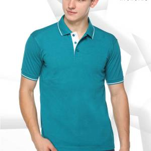 Turquoise-White-Pure-Cotton-Promotional-Event-Polo-T-Shirt-1652_TRWH