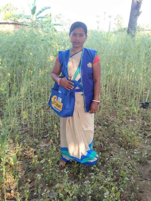 Adani Suposhan Sangini in her Uniform Kit