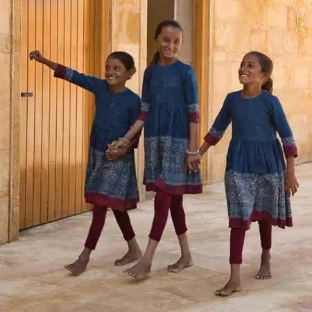 Rural Girls in Sabyasachi Designed Uniforms