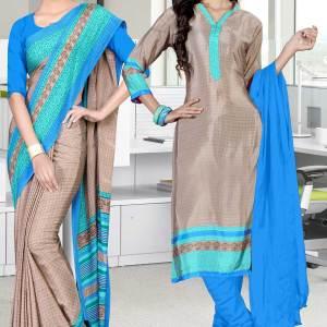 beige-and-blue-italian-crepe-silk-teachers-uniform-saree-salwar-combo-478-652