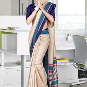 beige-and-navy-blue-tripura-cotton-corporate-uniform-sarees-463-19