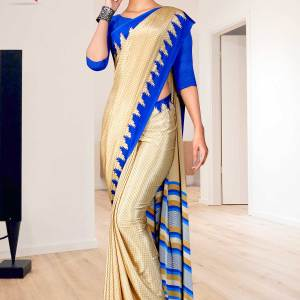 beige-blue-small-print-premium-italian-silk-crepe-saree-for-institution-uniform-sarees-1611