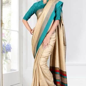 beige-green-border-tripura-cotton-uniform-saree-164-15