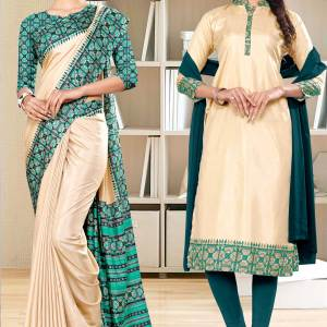 beige-green-printed-blouse-concept-polycotton-raw-silk-salwar-kameez-for-staff-uniform-sarees-1079