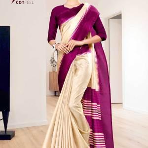 beige-wine-gala-border-premium-polycotton-cotfeel-saree-for-teacheruniform-sarees-1071-21