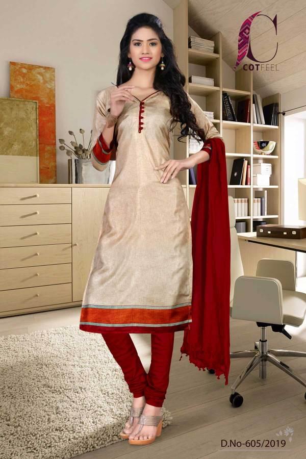 beige-with-maroon-border-tripura-cotton-teacher-uniform-salwar-kameez-605