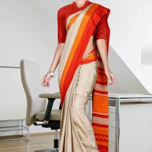 beige-with-orange-red-border-italian-crepe-uniform-saree-61-15