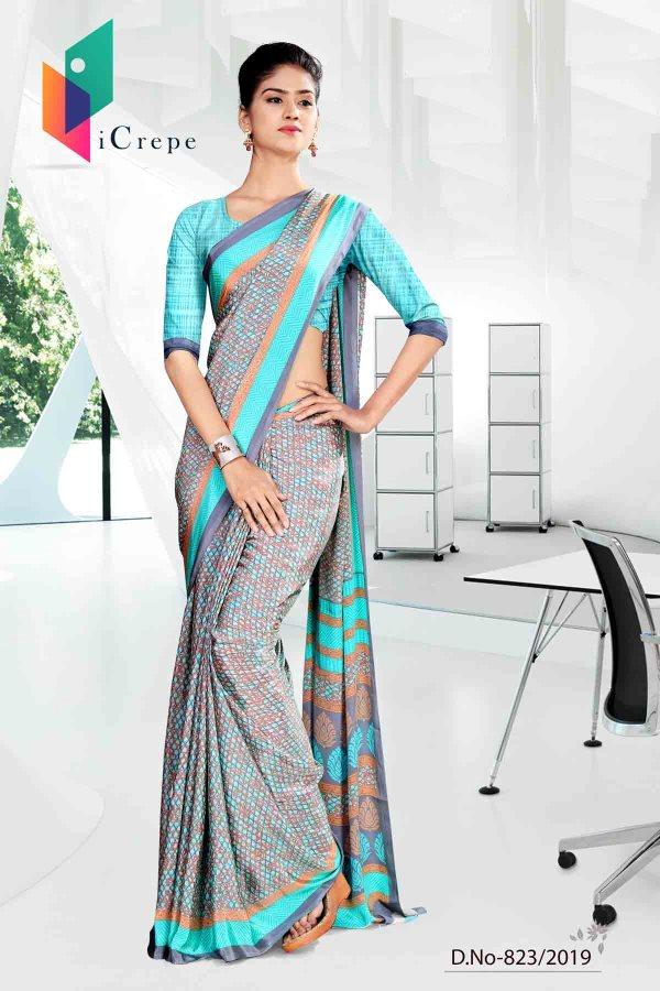 blue-and-grey-icrepe-silk-institute-uniform-saree-823