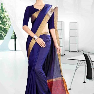 blue-and-yellow-with-off-white-boder-craftly-cotton-corporate-uniform-saree-817