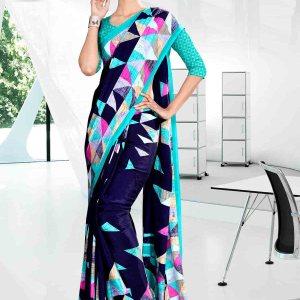 blue-office-uniform-saree-828