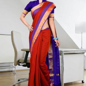 blue-red-golden-uniform-saree-264