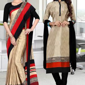 brown-and-black-italian-crepe-silk-fancy-uniform-saree-salwar-combo-529-680