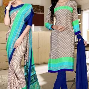 brown-and-blue-italian-crepe-silk-staff-uniform-saree-salwar-combo-524-670