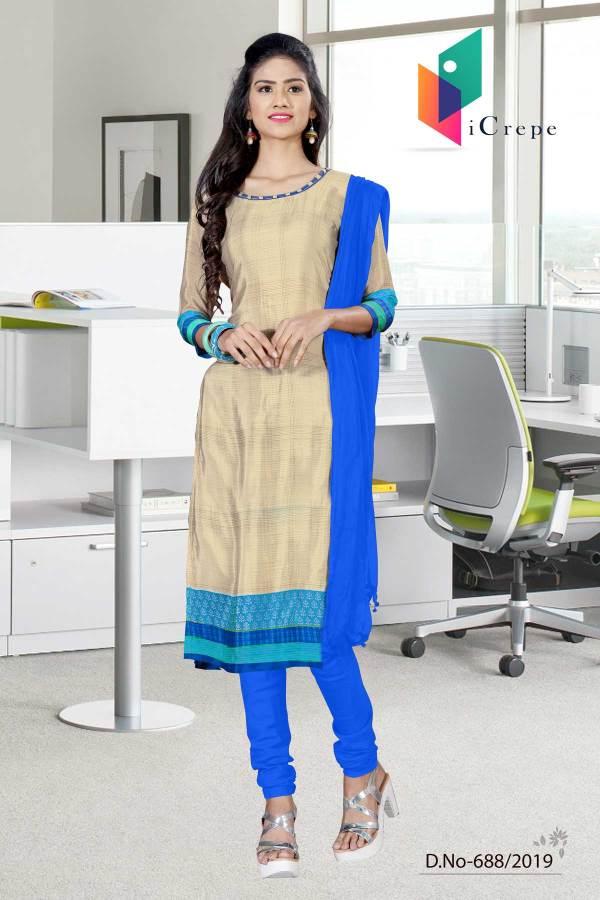 brown-blue-italian-crepe-silk-hotel-uniform-salwar-kameez-688