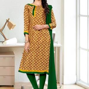 brown-bottle-green-premium-italian-silk-crepe-salwar-kameez-for-annual-function-uniform-sarees-01036