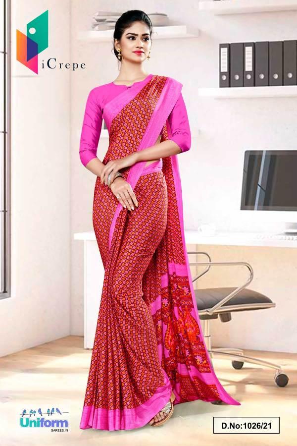 brown-pink-small-print-premium-italian-silk-crepe-saree-for-front-office-uniform-sarees-1026-21
