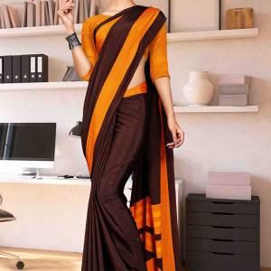 coffee-orange-premium-italian-silk-crepe-saree-salwar-combo-for-teachers-uniform-sarees-1603
