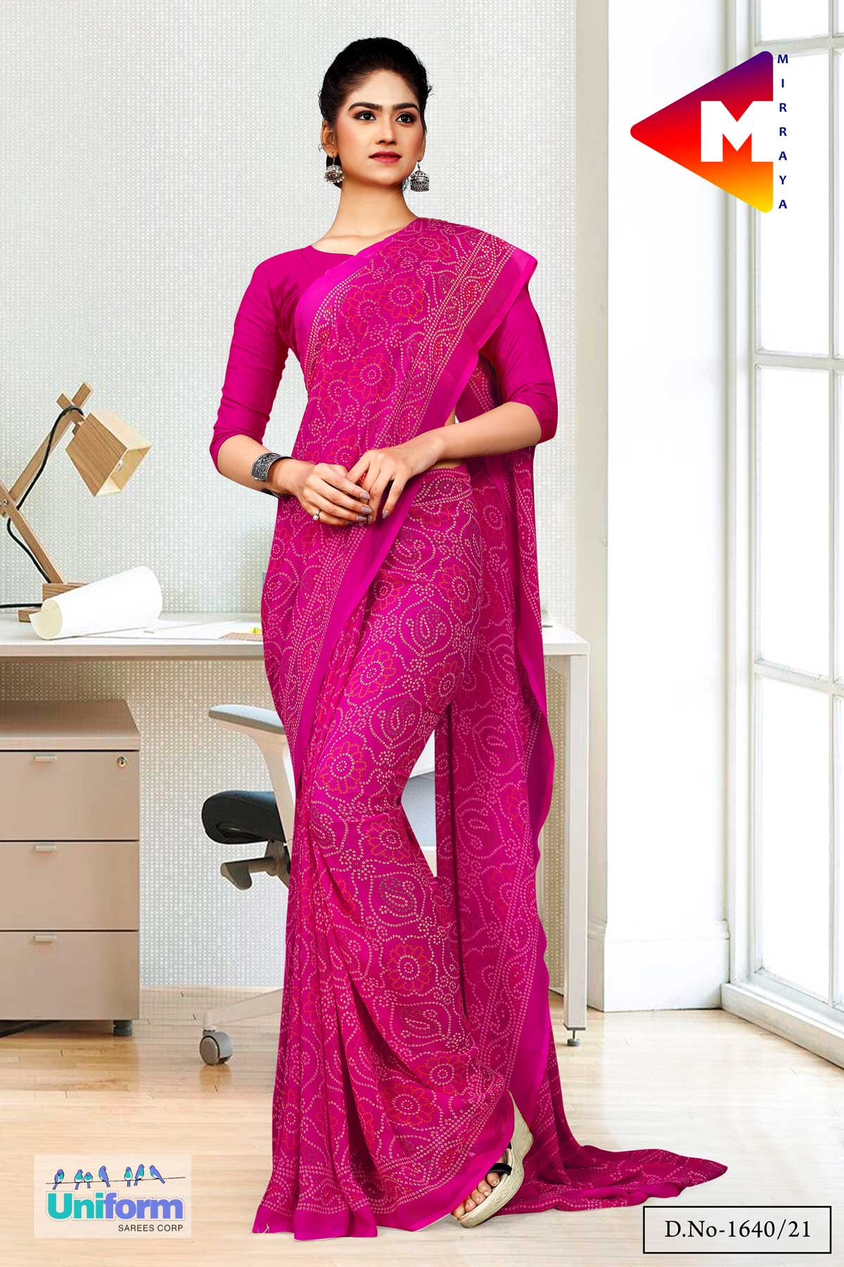 Bandhni Sarees for Temples