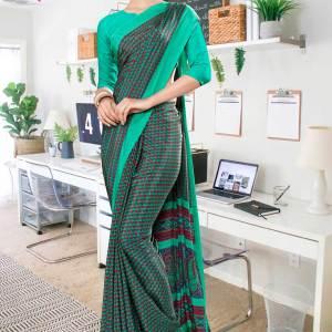green-border-small-print-premium-italian-silk-crepe-saree-for-hospital-uniform-sarees-1022-21