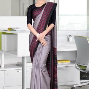 grey-and-black-tripura-cotton-corporate-uniform-sarees-454
